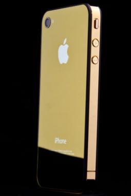Zrcadlové zlaté sklo - světlé a nový design pro iPhone