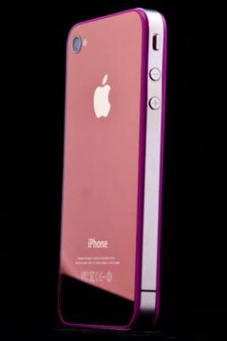 Zrcadlové fialové sklo a nový design pro iPhone