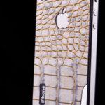 Kožený panel - Bílý had a nový design pro iPhone